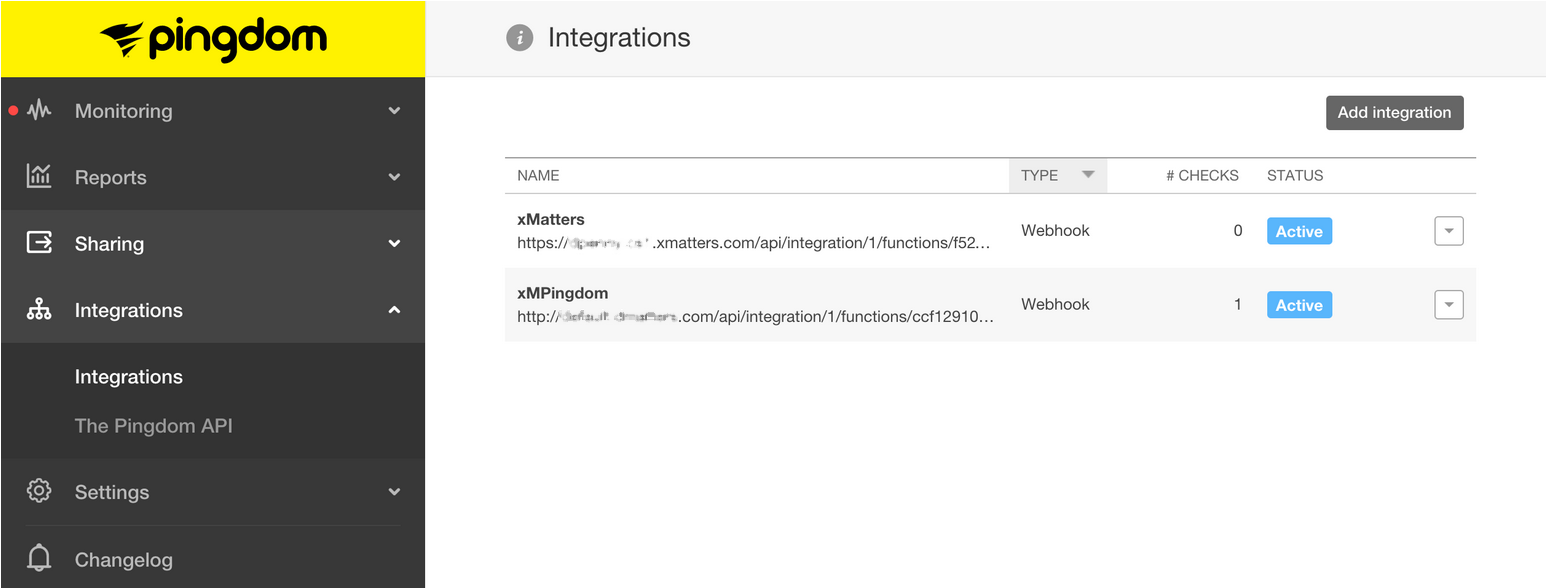 in the add integration dialog box select webhook as the integration type and give it a unique name