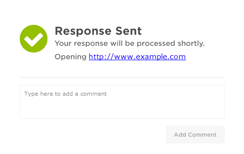 receive and respond to email alerts